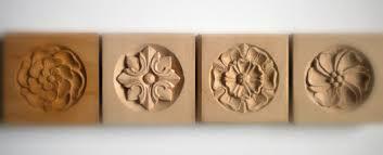 decorative wood carvings corner blocks rosette architectural wood carving authentic