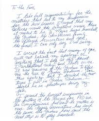 read alex rodriguez u0027s handwritten apology letter to his fans the