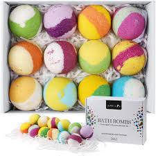 amazon com artnaturals bath bomb gift set u2013 12 x 4 oz u2013 handmade