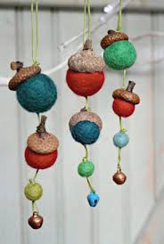 acorn felt ornaments set worthygoods
