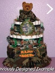 Baby Boy Diaper Cakes Camo Military Bear