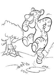 kids fun 30 coloring pages winnie pooh tigger