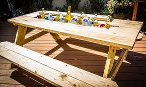 Make Your Own Picnic Table Bench by Mark U0027s Diy Picnic Table Cooler Hallmark Channel Furniture