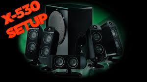 logitech speaker wall mount logitech x 530 speaker system setup u0026 computer setup youtube
