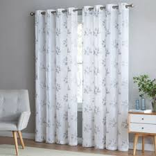 95 Inch Curtain Panels Buy Sheer 95 Inch Window Curtain Panel In Grey From Bed Bath Beyond