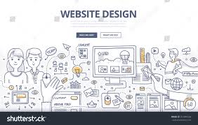 doodle design style concept layout web stock vector 313944293