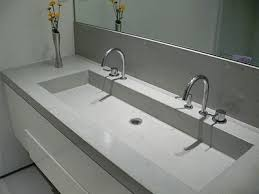trough sink two faucets cement double trough sink bathroom pinterest incredible vanity