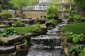 architecture how to build a backyard waterfall for beautiful
