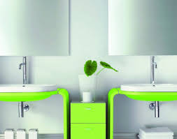 Bathroom Basin Furniture Vase Dazzling Modern Bathroom Furniture Design With Green White