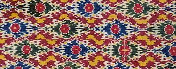 the ikat efffect pattern design