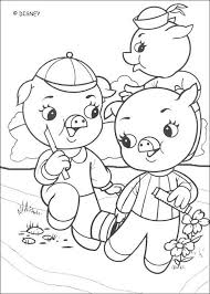 3 pigs coloring pages hellokids