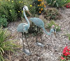 metal lawn ornaments birds landscape design