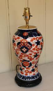 antiques atlas imari vase converted into a table lamp