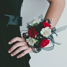 Red Prom Corsage Beautiful And Classic Prom Corsage The Red White And Black