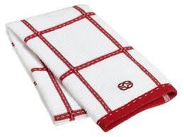 amazon com calphalon textiles checked terry kitchen towel tomato