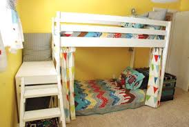 Do It Yourself Bunk Bed Plans White C Loft Bed With Stair Junior Height Diy Projects