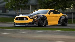 widebody muscle cars dub magazine dry carbon widebody ford mustang by clinched