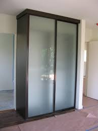 Free Standing Closet With Doors Free Standing Closet Acid Etched Wardrobe Doors Contemporary