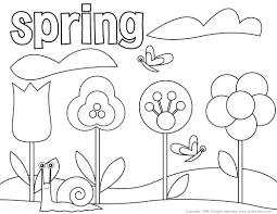 terrific free printable spring coloring pages for kindergarten