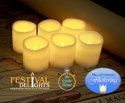 amazon com timer flameless candles by festival delights premium