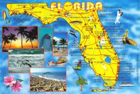 Largo Florida Map Florida Map Postcard 5 Available A Photo On Flickriver