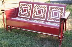 powdercoated restored vintage metal patio gliders vintage metal