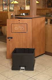 automatic compacting receptacle for public areas
