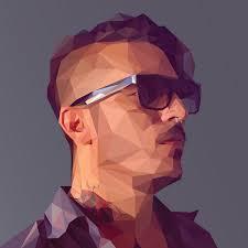 create a low poly portrait digital arts