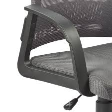 Office Mesh Chair by Amazon Com Leick Gray Mesh Back Office Chair Kitchen U0026 Dining