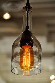 Wine Bottle Light Fixtures 3 Light Wine Bottle Pendant Fixture By Parisenvy On Etsy 175 00