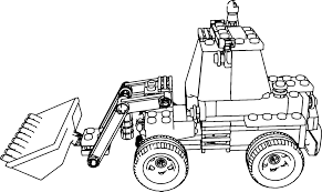 lego excavator truck coloring page wecoloringpage