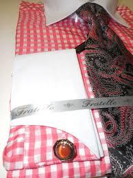 white u0026 bright salmon micro check pattern dress shirt with tie set