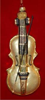 classic strad violin glass ornament personalized new