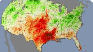 Usda Map Nasa Plant Stress Paints Early Picture Of Drought