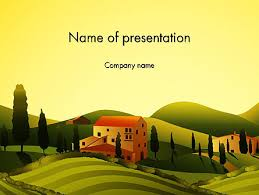 valley village powerpoint template backgrounds 12683