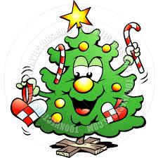 cartoon happy christmas tree by poul carlsen toon vectors eps 63827