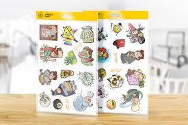 pokemon pop up diy paper craft kit pikachu krabby gravity falls sticker pack set of 25 art vinyl stickers from gravity falls with