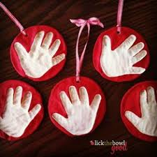 handprint ornament diy ornament child and gift