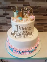 prince baby shower cake prince princess baby shower cake rashmi s bakery