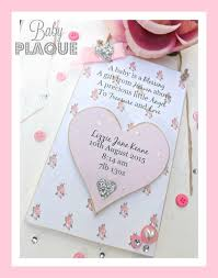 baby plaques personalized floral baby plaque a baby is a blessing personalised plaque