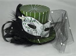 mardi gras hat mini green mardi gras purple and black top hat