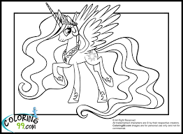 my little pony coloring pages friendship is magic princess celestia
