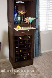 Vertical Bar Cabinet I Needed A Bar Unit To Hold Some Stemware Liquor And Wine While