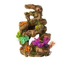 classic biorb aquarium ornament coral on lava 10 inch gardensite