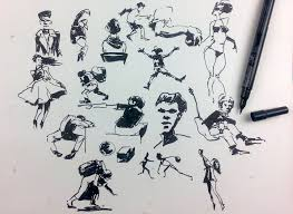 gesture drawing u0026 people sketching with a brush pen youtube