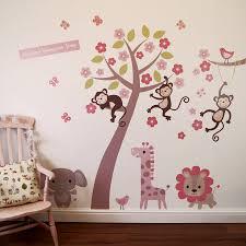 pastel blossom tree with animals wall sticker by parkins interiors pastel blossom tree with animals wall sticker