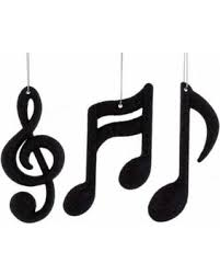 Musical Note Ornaments Amazing Savings On Black Notes Treble Clef Ornaments