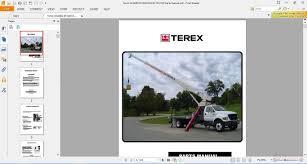 terex operator manual hr 42
