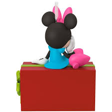 disney minnie mouse present personalized ornament