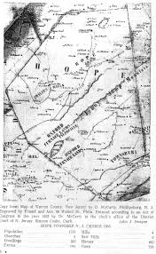 Map Of Warren County Nj Genealogy Scraps